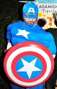 Gerard Butler in Captain America costume
