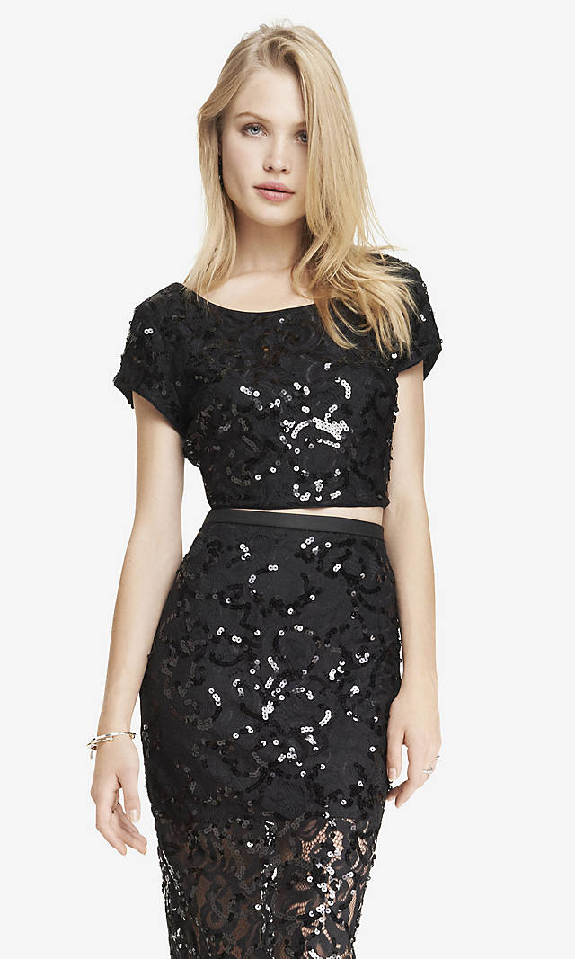 http://www.express.com/clothing/lace+sequin+cropped+tee/pro/3762916/cat320055