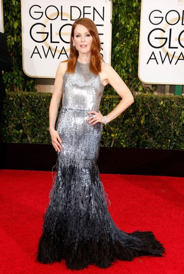 Julianne Moore  arrives to the 72nd Annual Golden Globe Awards in Givenchy