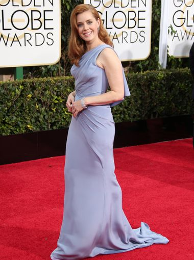Amy Adams arrives to the 72nd Annual Golden Globe Awards in VERSACE gown