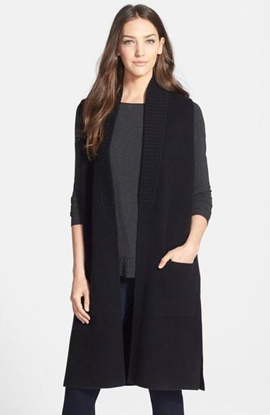 Classiques Entier® Long Cashmere Sweater Vest