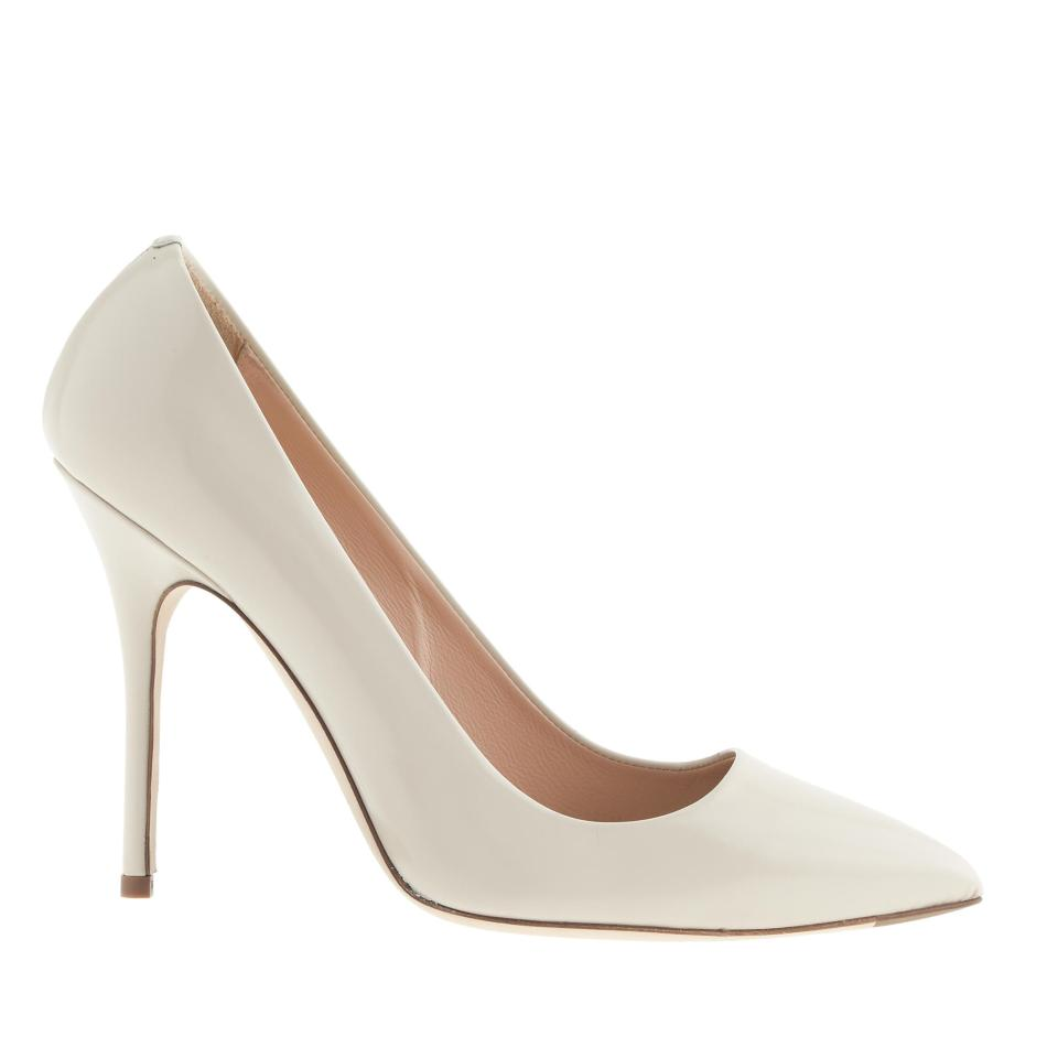 J.CREW ROXIE GLOSSY LEATHER PUMPS