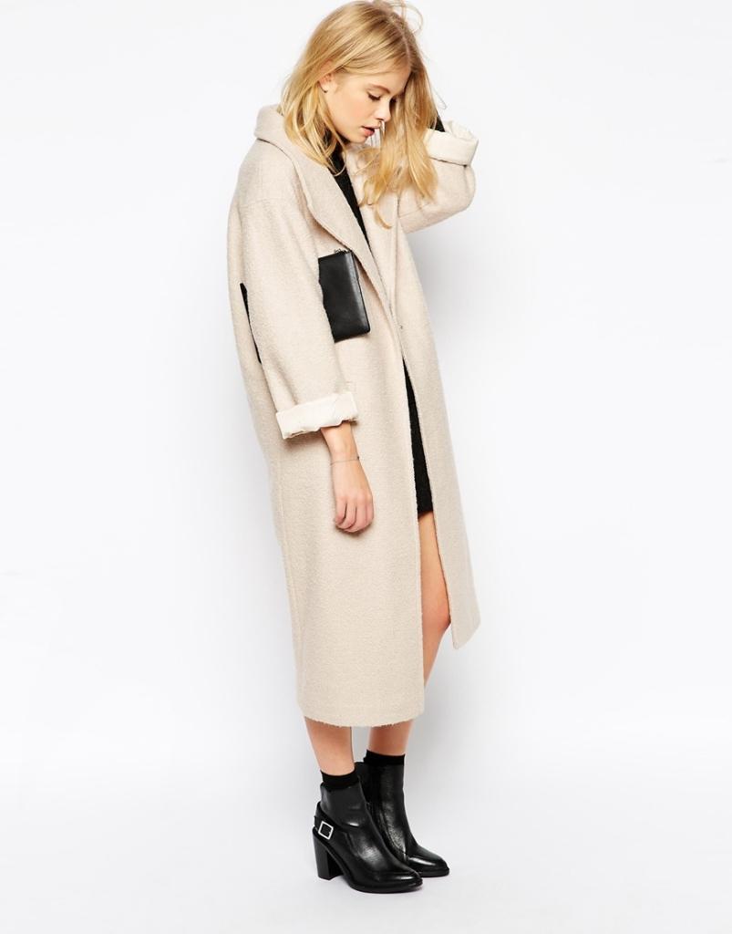 ASOS Duster Coat In Textured Wool