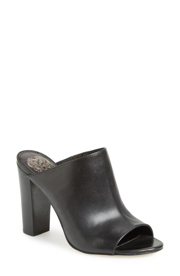 Vince Camuto 'Vestata' Leather Peep Toe Mule