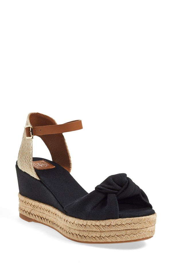 Tory Burch Ankle Strap Espadrille Platform Sandal