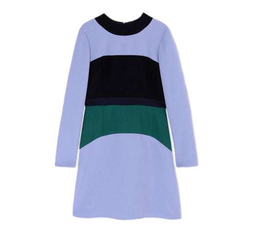 MARNI Color-block cady dress
