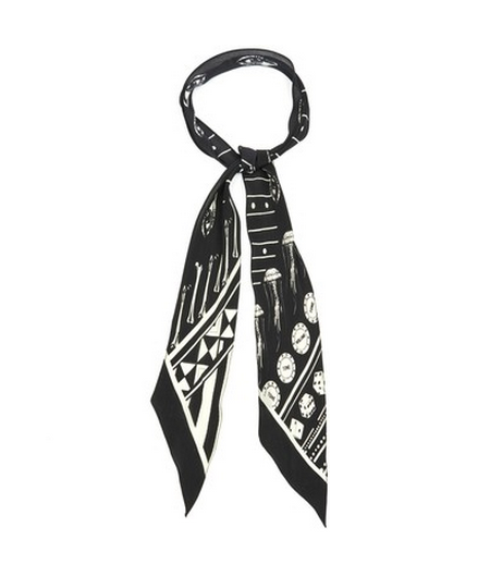 ROCKINS Paisley Eyes-print super-skinny silk scarf