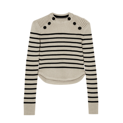 ISABEL MARANT Hatfield striped merino wool-blend sweater