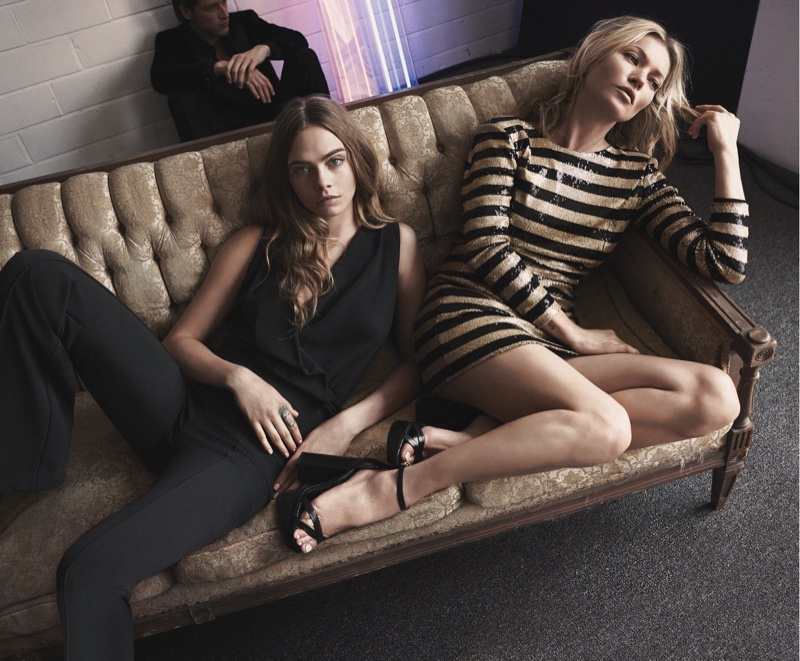 Cara-Delevingne-Kate-Moss-Mango-Evening-2015-Collection03