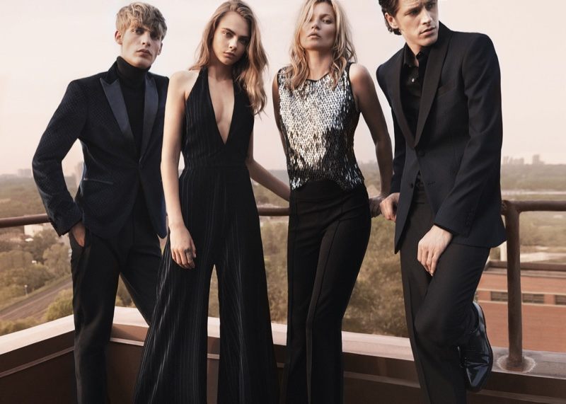 Cara-Delevingne-Kate-Moss-Mango-Evening-2015-Collection07