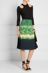 ALTUZARRA Zurina pleated printed chiffon skirt