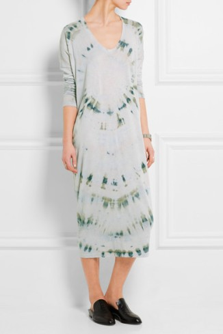RAQUEL ALLEGRA Tie-dyed cotton-blend jersey midi dress