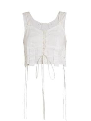 CHLOÉ Sweetheart-neck cotton-voile cami top