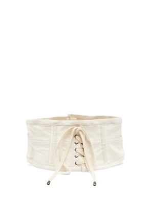 ISABEL MARANT herese lace-up cotton-blend corset belt