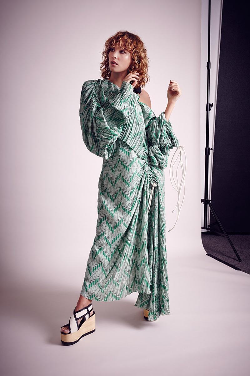 Marni-Off-The-Shoulder-Crepe-Midi-Dress