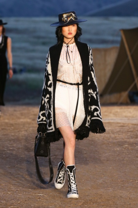 Mandatory Credit: Photo by Katie Jones/WWD/REX/Shutterstock (8818801bf) Model on the catwalk Dior Cruise Collection 2018 show, Runway, Los Angeles, USA - 11 May 2017