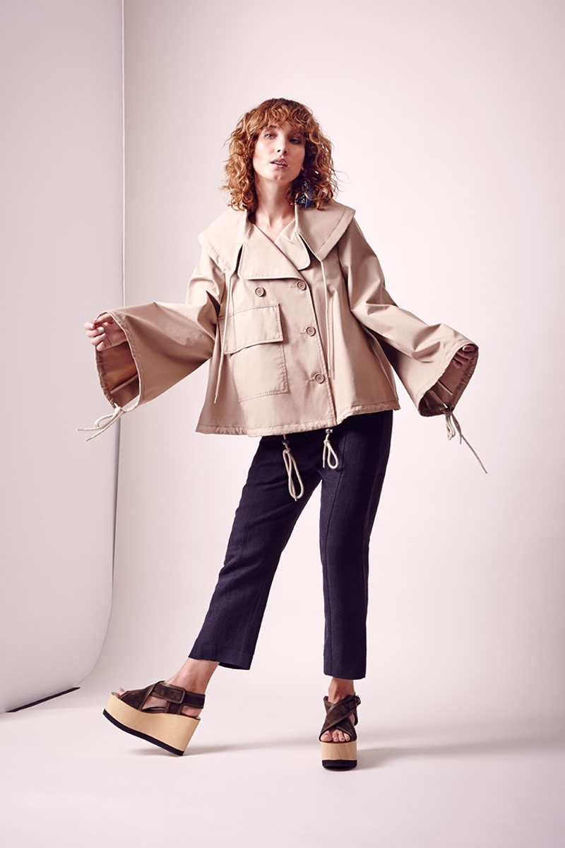 See-by-Chloé-Double-Breasted-Cropped-Cotton-Trench-Coat
