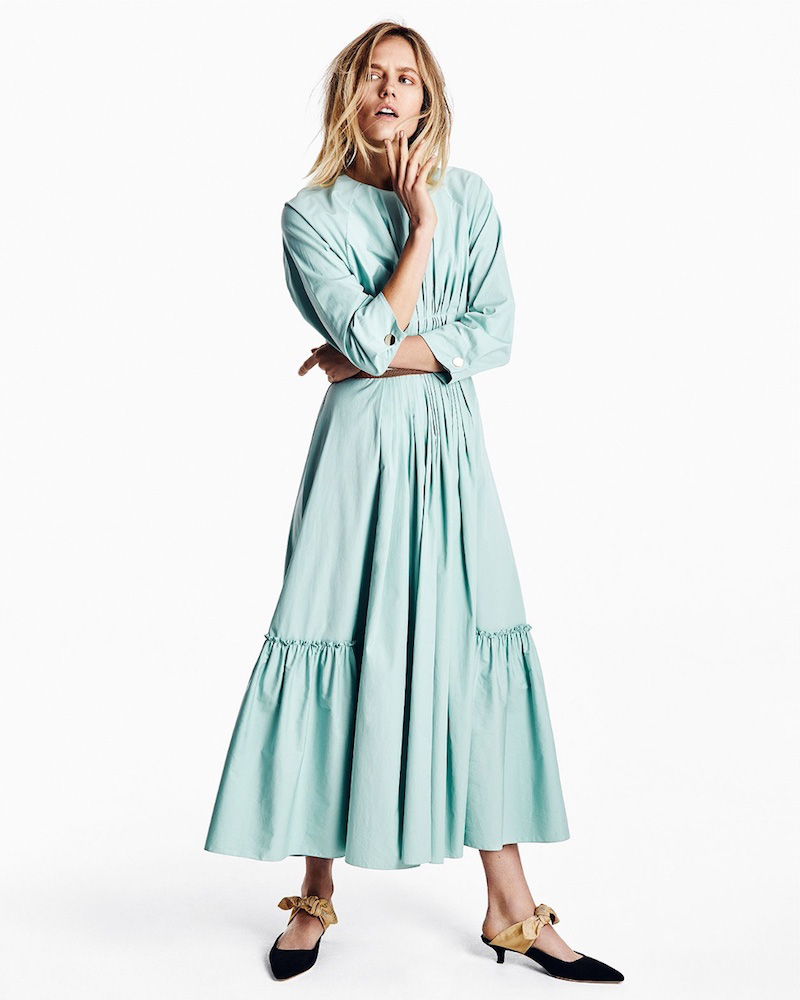 Roksanda-Varena-Pintucked-Cotton-Poplin-Dress