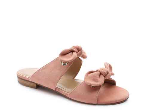 DSW Gunmetal Bonya Flat Sandal