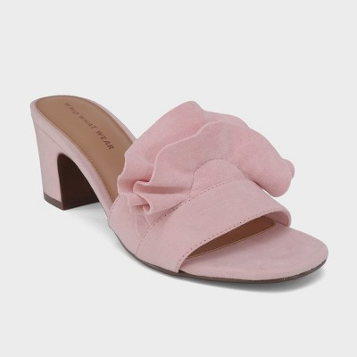 Women's Zadie Heeled Slide Sandals - Who What Wear