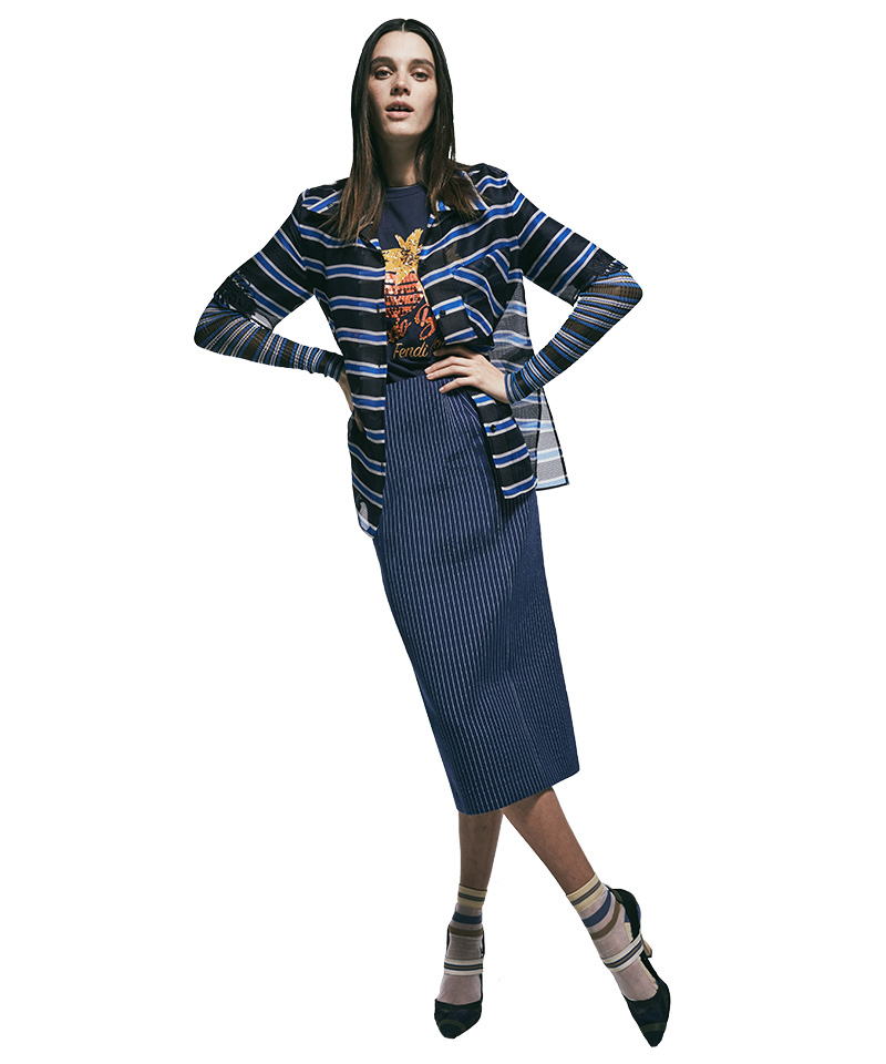 Fendi-Striped-Organza-Shirt