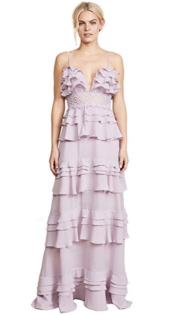 Glamorous True Decadence Ruffle Gown