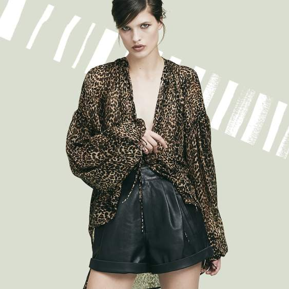 Saint-Laurent-Leopard-Print-Peasant-Top