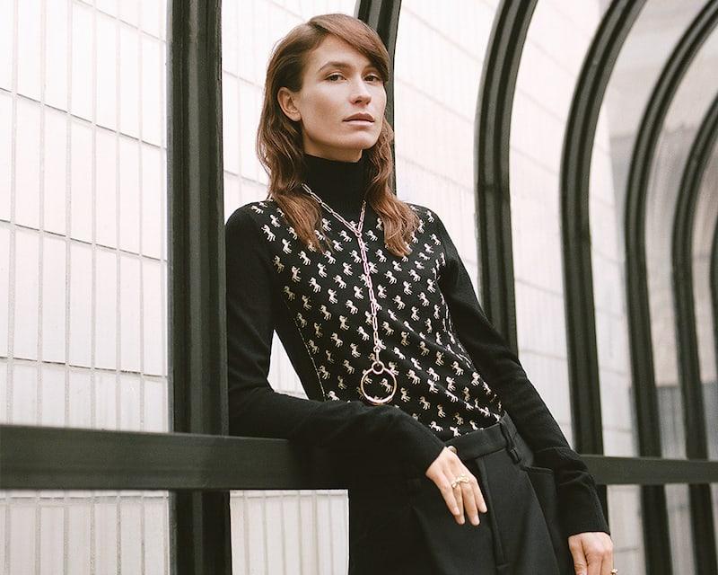 Chloé-Metallic-Intarsia-Wool-Blend-Turtleneck-Sweater